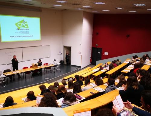 Présentation du Club aux étudiants de l'IUT Info-Com de Caen