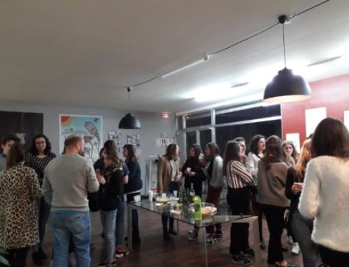 Un temps d'échange entre adhérents et les étudiants rouennais