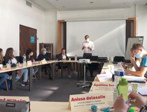 Retrouvailles avec le conseil départemental des collégiens de Seine-Maritime